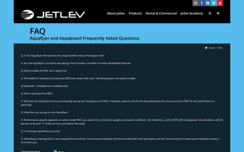 Screenshot of FAQ Page jetlev.com - FAQ | JETLEV - captured Sept. 19, 2014