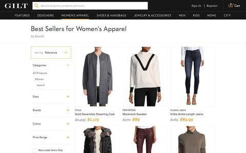 Best Sellers for Women's Apparel | Gilt Groupe