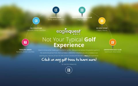 Screenshot of Signup Page eaglequestgolf.com - EQ Rewards Club | Eagle Quest Golf - captured June 13, 2016