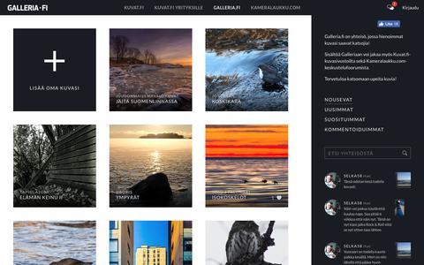 Screenshot of Home Page galleria.fi - Kuvat.fi on koti sinun kuvillesi - captured Jan. 25, 2017