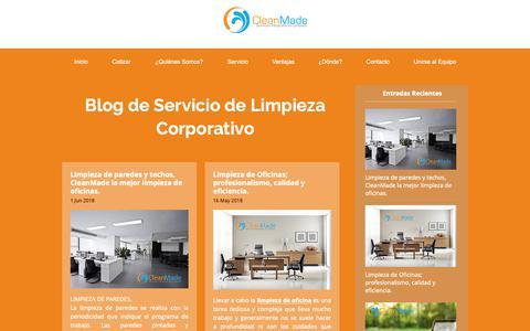 Screenshot of Blog cleanmade.com.mx - Limpieza Empresas | Santa Fe | Clean Made servicios de limpieza | Consejos y tips de limpieza para los establecimientos de comida. - captured Sept. 28, 2018