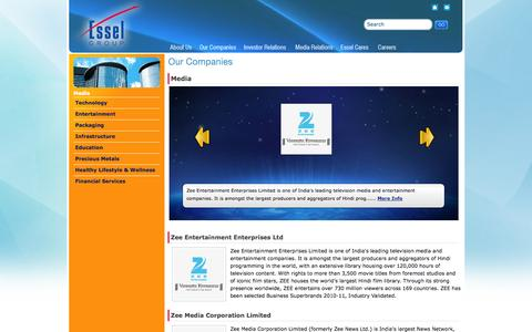 Screenshot of Press Page esselgroup.com - Esselgroup - Media - captured Sept. 22, 2014