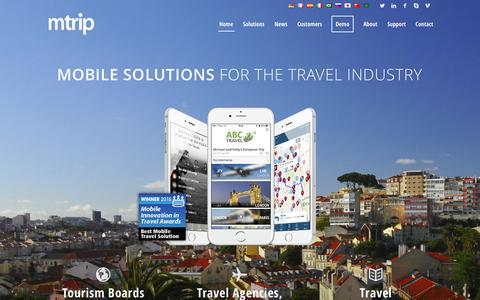 Screenshot of Home Page mtrip.com - mTrip mobile solutions for the travel industry - captured June 19, 2015