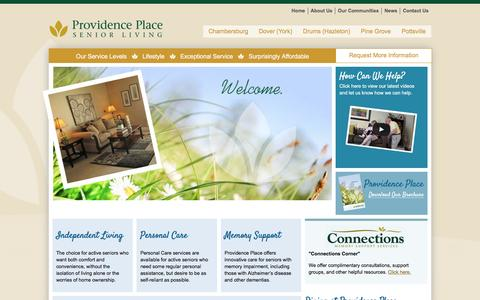 Screenshot of Home Page providence-place.com - Providence Place - Retirement Living Communities - captured June 14, 2016