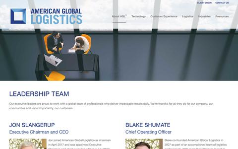 Screenshot of Team Page americangloballogistics.com - Leadership Team | AGL - captured Jan. 8, 2018