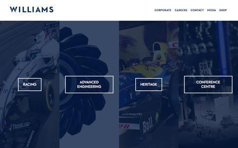 Screenshot of Home Page williamsf1.com - Williams F1 - captured June 18, 2015