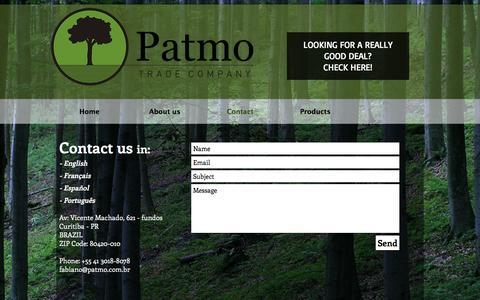 Screenshot of Contact Page patmo.com.br - Patmo | CONTACT US - captured Oct. 26, 2016