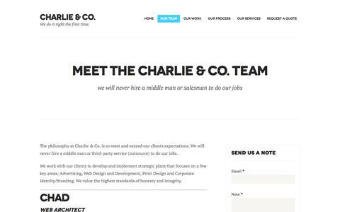 Screenshot of Team Page charlienco.ca - Meet the Charlie & Co. Team | Charlie & Co. - captured Oct. 27, 2014