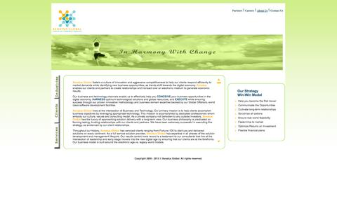 Screenshot of About Page xenatusglobal.com - Xenatus Global :: Services - captured Oct. 7, 2014