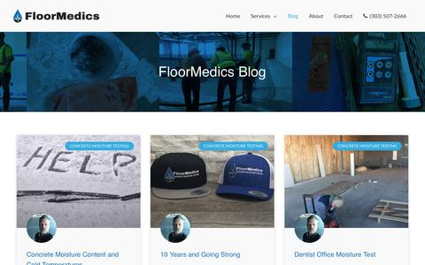 Screenshot of Blog floormedics.com - Blog - FloorMedics | Concrete Moisture Testing - captured April 17, 2019