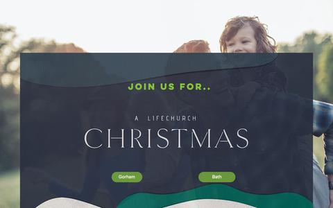 Screenshot of Home Page lifechurchmaine.org - LifeChurch | Gorham, Maine Church | Bath, Maine Church - captured Dec. 15, 2018