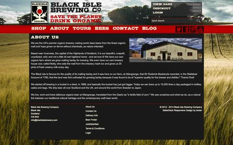 Screenshot of About Page blackislebrewery.com - About Us - captured Sept. 30, 2014
