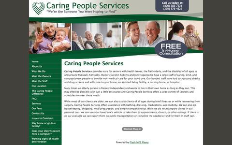 Screenshot of Home Page elderly-care.biz - Caring People Services-Professional Caregivers - captured June 24, 2016
