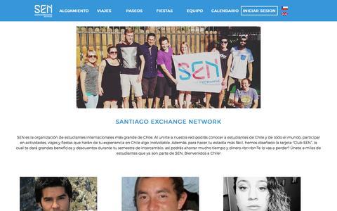 Screenshot of Team Page santiagoexchange.com captured March 4, 2016
