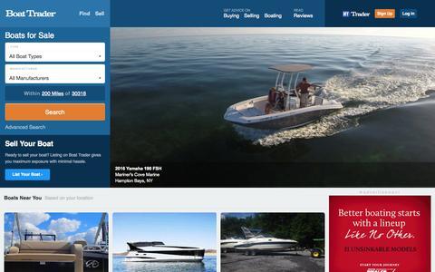 Screenshot of Home Page boattrader.com captured Oct. 27, 2015