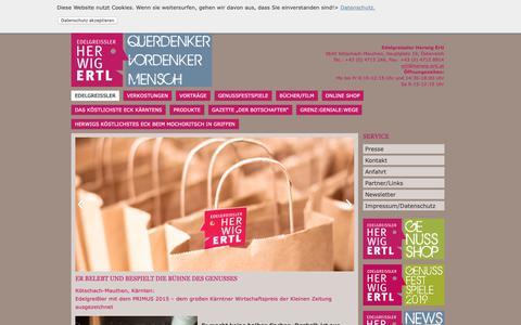 Screenshot of Home Page herwig-ertl.at - Edelgreißler - Herwig Ertl - captured Oct. 29, 2018