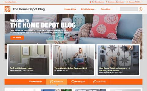 Screenshot of Blog homedepot.com - The Home Depot - captured July 26, 2017
