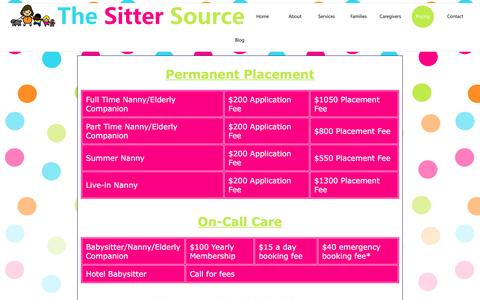 Screenshot of Pricing Page thesittersource.com - The Sitter Source - captured Jan. 11, 2016