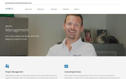 Screenshot of Team Page e-motioncontrols.com - Management |  eMotion Controls - captured Nov. 15, 2016