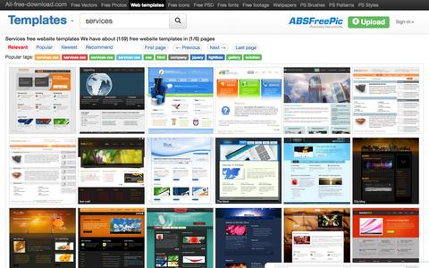 Screenshot of Services Page all-free-download.com - Services free website templates for free download about (159) free website templates. - captured Nov. 23, 2015