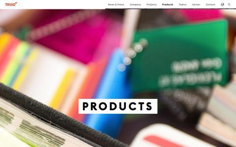 Screenshot of Products Page triad.de - Products |Triad Berlin - captured Nov. 5, 2014