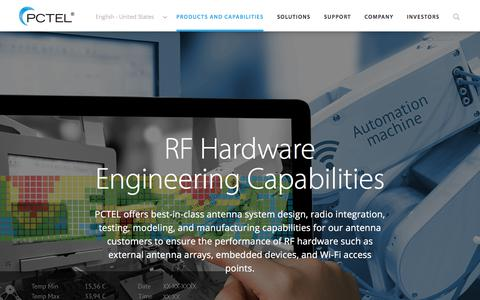 RF Hardware Engineering Capabilities for PCTEL Antenna Systems