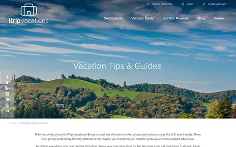Screenshot of Blog itrip.net - Vacation Tips & Guides - iTripVacations - captured Sept. 2, 2016