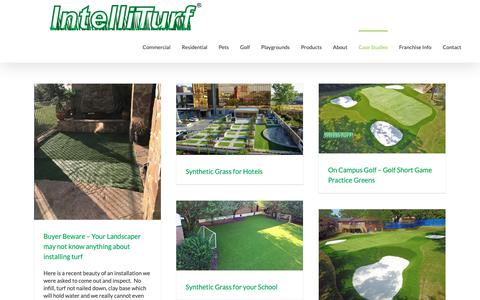 Screenshot of Case Studies Page intelliturf.com - Case Studies - Synthetic Grass Installations - IntelliTurf - captured Oct. 12, 2018