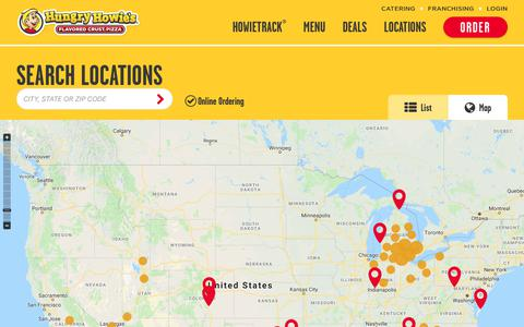 Screenshot of Maps & Directions Page hungryhowies.com - Find Our Nearest Pizza Locations - Pizza Delivery Near You | Hungry Howies - captured Dec. 12, 2018