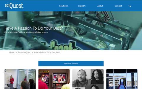 Screenshot of Jobs Page sciquest.com - Careers   SciQuest - captured June 17, 2015