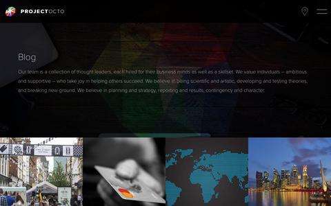 Screenshot of Blog project-octo.com - Project Octo - captured June 5, 2017