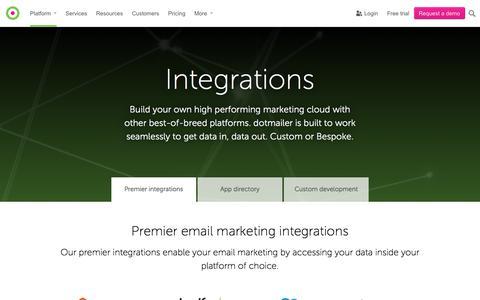 Integrations | dotmailer