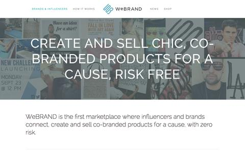 Screenshot of Press Page webrand.com - WeBRAND   INFLUENCER MARKETING, BRANDING, LICENSING, CROWDFUNDING - captured Nov. 5, 2015