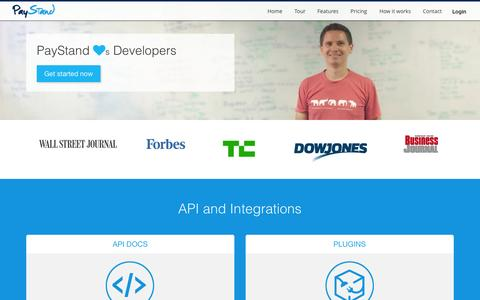 Screenshot of Developers Page paystand.com - PayStand Loves Developers | PayStand - captured Dec. 17, 2014