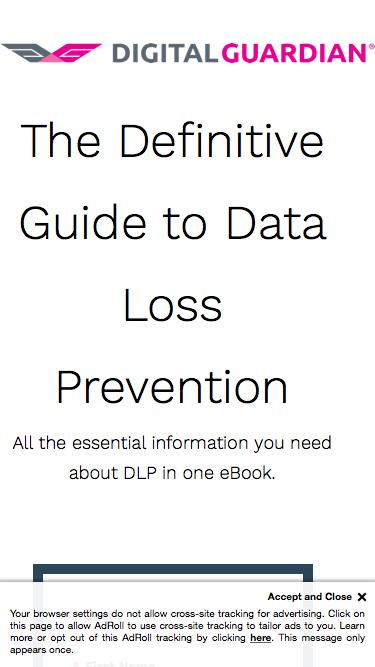 The Definitive Guide to Data Loss Prevention