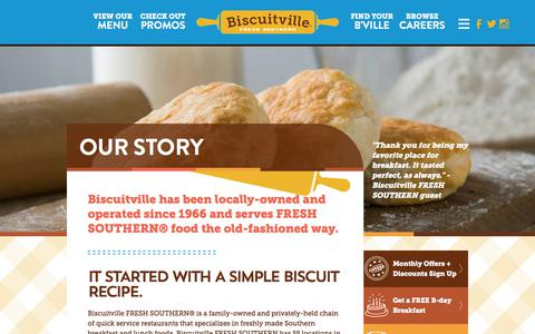 Screenshot of About Page biscuitville.com - Our Story | Biscuitville - captured Aug. 2, 2018