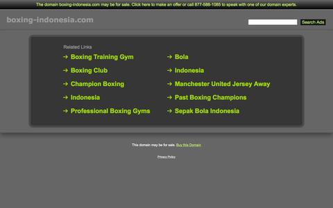 Screenshot of Home Page boxing-indonesia.com - Boxing-Indonesia.com - captured Oct. 10, 2015