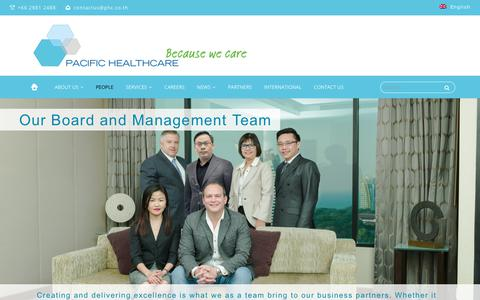 Screenshot of Team Page phc.co.th - People – Pacific Healthcare - captured Sept. 26, 2018