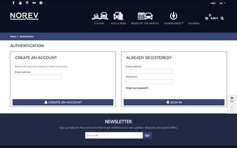 Screenshot of Signup Page Login Page norev.com - Authentification - Norev - captured Nov. 17, 2018