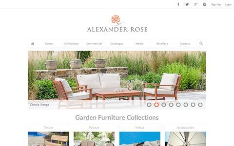 Luxury Handmade Garden Furniture | Outdoor Collections | Contract | Alexander Rose Ltd