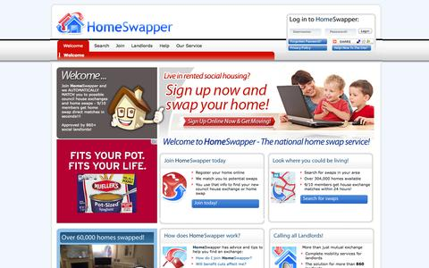 Screenshot of Signup Page homeswapper.co.uk - HomeSwapper, council house exchange, Homeswap, house exchange - Home Page - captured Sept. 19, 2014