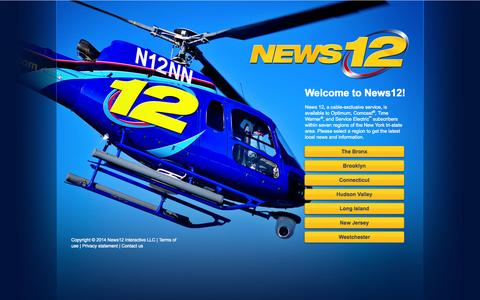 Screenshot of Home Page news12.com - News 12 - Local News, Traffic & Weather - News 12 - captured Sept. 18, 2014