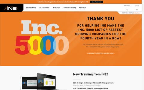 Screenshot of Home Page ine.com - CCIE Training - CCIE Routing & Switching, Collaboration, Security, Service Provider, Data Center - captured Sept. 23, 2014