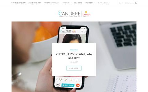 Screenshot of Blog candere.com - Your Jewellery Shopping Guide | Candere Blog - captured Jan. 9, 2020