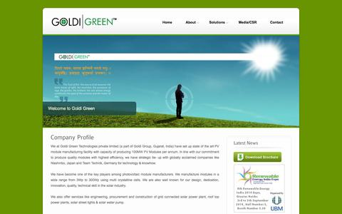 Screenshot of About Page goldigreen.in - Company Profile - Goldi Green Technologies Pvt. Ltd. - captured Oct. 3, 2014