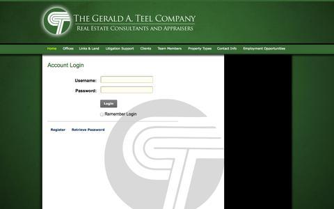 Screenshot of Login Page gateel.com - User Log In - captured Oct. 6, 2014