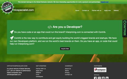 Screenshot of Developers Page orthoticspecialist.com - Welcome to orthoticspecialist.com - captured March 6, 2016
