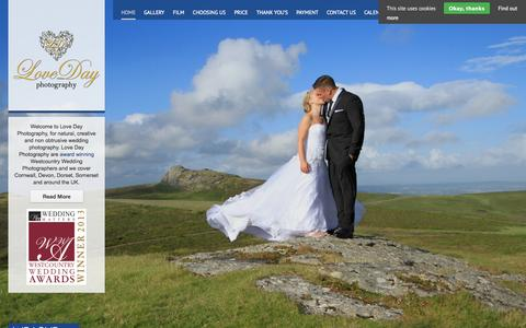Screenshot of Home Page lovedayphotography.co.uk - Love Day Photography - - captured Sept. 30, 2014