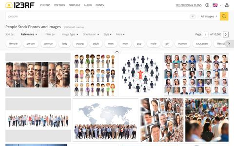 Screenshot of Team Page 123rf.com - People Stock Photos. Royalty Free People Images - captured Sept. 21, 2018