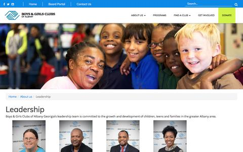 Screenshot of Team Page bgcalbany.org - Leadership | Boys & Girls Clubs of Albany - captured Oct. 11, 2017